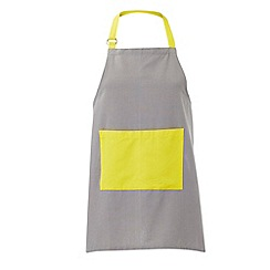 Debenhams - Grey and yellow apron