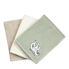 At home with Ashley Thomas - Set of three assorted duck embroidered hand towels