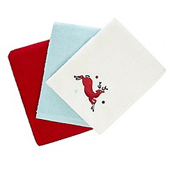 At home with Ashley Thomas - Set of three festive hand towels