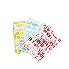 Ben de Lisi Home - Set of three multi-coloured textile print tea towels
