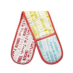 Ben de Lisi Home - Multi-coloured textile print oven gloves