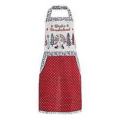 At home with Ashley Thomas - Red Christmas print apron