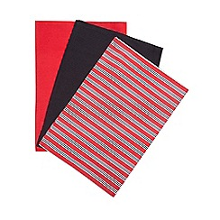 Home Collection - Set of three striped print tea towel
