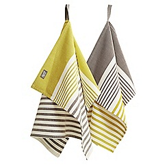 Jamie Oliver - Premium yellow stripe set of 2 tea towels