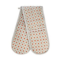 Home Collection Basics - Orange circle print oven gloves