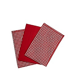 Home Collection Basics - Red set of three terry towels