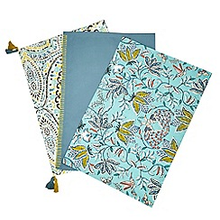 Butterfly Home by Matthew Williamson - Set of three assorted plain and patterned tea towels