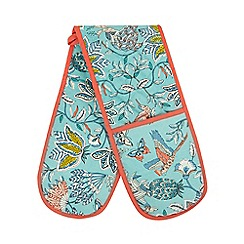 Butterfly Home by Matthew Williamson - Blue bird print double oven gloves