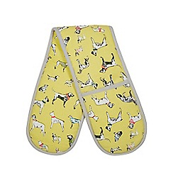 Ben de Lisi Home - Yellow dog print double oven gloves