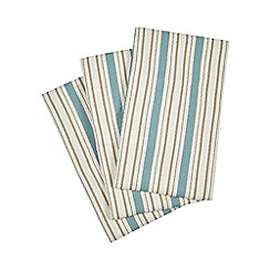 Home Collection - Set of three multi-coloured striped tea towels