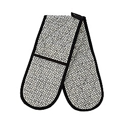 RJR.John Rocha - Black printed double oven gloves