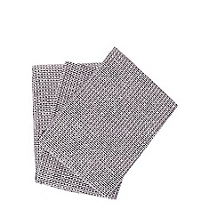 RJR.John Rocha - Set of three grey hand towels