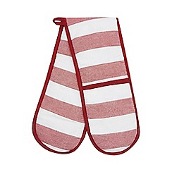 Home Collection - Red striped double oven gloves
