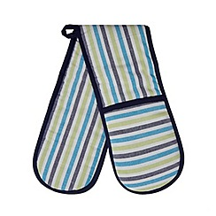 Home Collection - Blue striped double oven gloves
