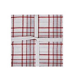 Home Collection - Set of three assorted plain and patterned tea towels