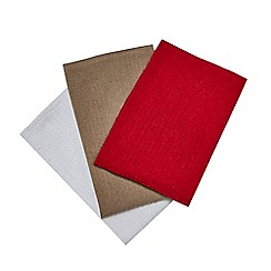 Home Collection - Set of three assorted textured tea towels