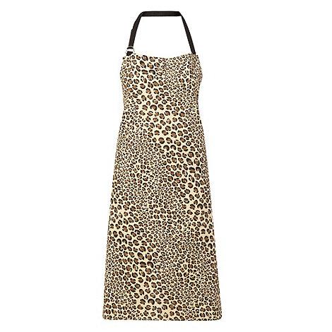 Debenhams - Natural leopard spotted apron