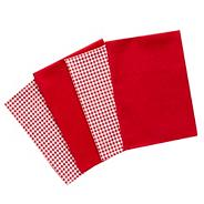 Red cotton checked towel bale