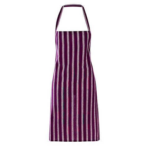Home Collection Basics - Cotton purple vertical striped apron