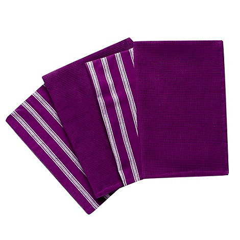 Home Collection Basics - Purple cotton striped towel bale