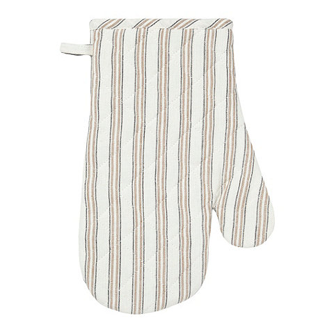 Home Collection Basics - Natural striped oven glove