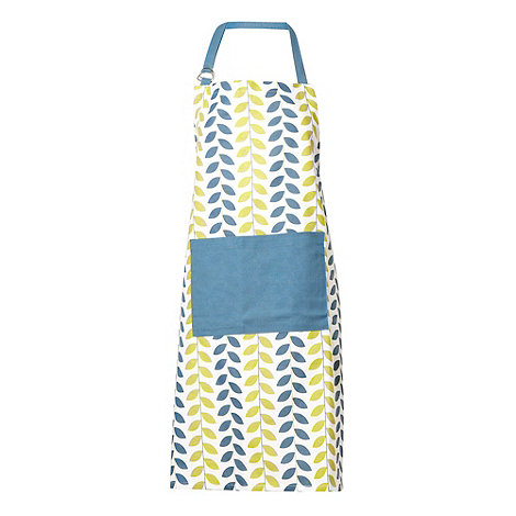 Debenhams - Blue leaf apron