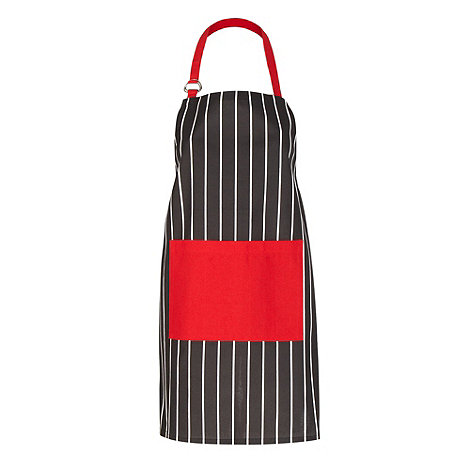 Debenhams - Black and white striped apron