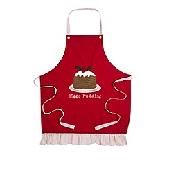 Retreat Home - Figgy Pudding knitted apron