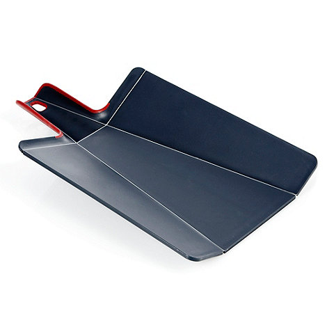 Joseph Joseph - Chop2Pot Plus large folding chopping board in grey and red