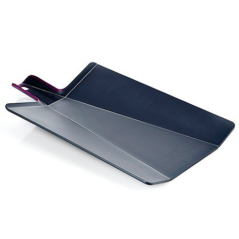 Joseph Joseph - Chop2Pot Plus large folding chopping board in grey and purple