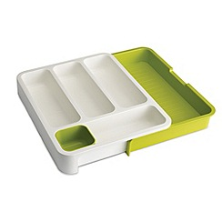 Joseph Joseph - DrawerStore expandable cutlery tray in white and green