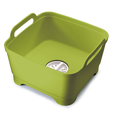 Joseph Joseph - Wash&Drain dishwashing bowl with straining plug in green