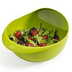 Joseph Joseph - Prep&Serve small multi-function bowl with integrated colander in green