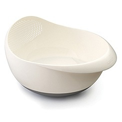 Joseph Joseph - Prep&Serve small multi-function bowl with integrated colander in white