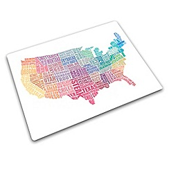 Joseph Joseph - Worktop Saver multi-purpose board with USA gastronomy map design