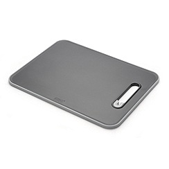 Joseph Joseph - Slice&Sharpen small chopping board with integrated sharpener in black