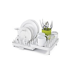 Joseph Joseph - White and green 'Connect' 3 piece adjustable dish rack