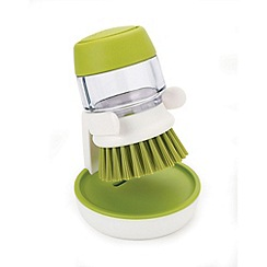 Joseph Joseph - Palm Scrub soap dispensing washing-up brush with storage stand in green