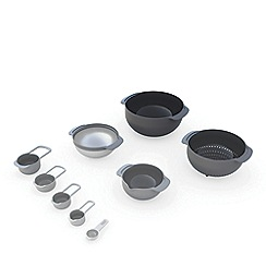 Joseph Joseph - Nest 9 stacking bowls set grey