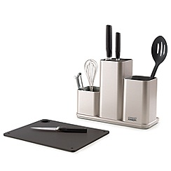 Joseph Joseph - Silver 'CounterStore' utensil pot and chopping board set