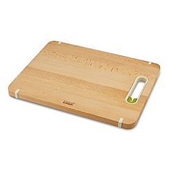 Joseph Joseph - Slice&Sharpen Wood large chopping board with integrated sharpener