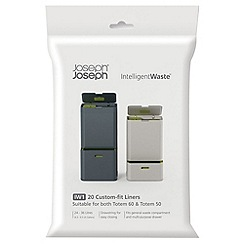 Joseph Joseph - Pack of 2 'Intelligent Waste' black Totem custom fit bin liners