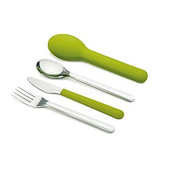 Joseph Joseph - GoEat space-saving stainless steel cutlery set in green