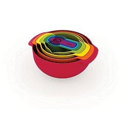 Joseph Joseph - Nest 9 Plus 9-piece food preparation set in red