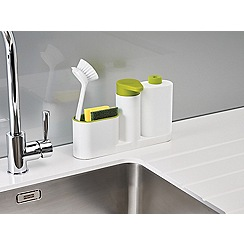 Joseph Joseph - White and green 'SinkBase Plus' 3 piece sink tidy set