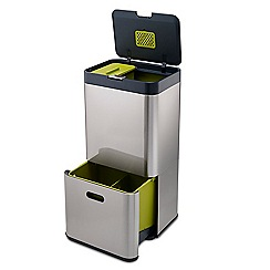 Joseph Joseph - Totem 60 S, Stainless-steel Waste Separation & Recycling Unit