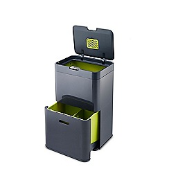 Joseph Joseph - Graphite 'Totem' 48L waste and recycling separation unit