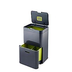 Joseph Joseph - 'Totem' 48L Graphite waste and recycling separation unit