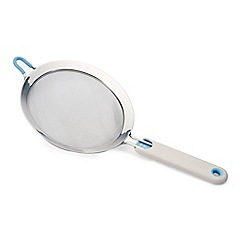 Joseph Joseph - Large 'Shake-It' self-tapping sieve in light grey