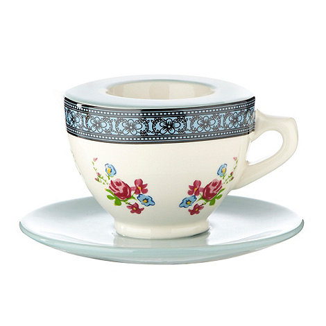 At home with Ashley Thomas - Aqua teacup-shaped egg cup